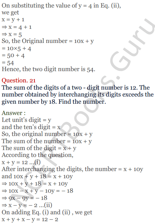 KC Sinha Maths Solutions Class 10 Chapter 3 Pair of Linear Equations in Two Variables Ex 3.5 - 19