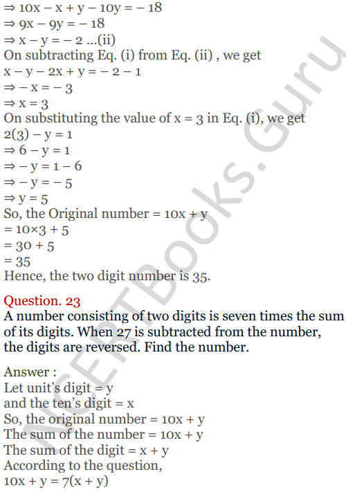 KC Sinha Maths Solutions Class 10 Chapter 3 Pair of Linear Equations in Two Variables Ex 3.5 - 21