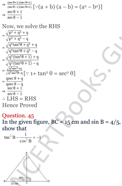 KC Sinha Maths Solutions Class 10 Chapter 4 Trigonometric Ratios and Identities Ex 4.1 - 114