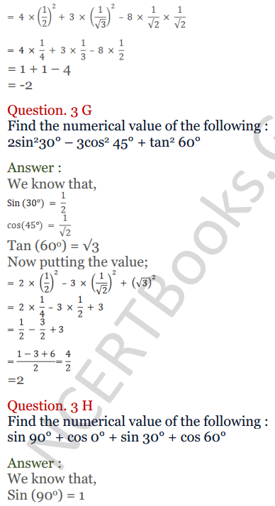 KC Sinha Maths Solutions Class 10 Chapter 4 Trigonometric Ratios and Identities Ex 4.2 - 8