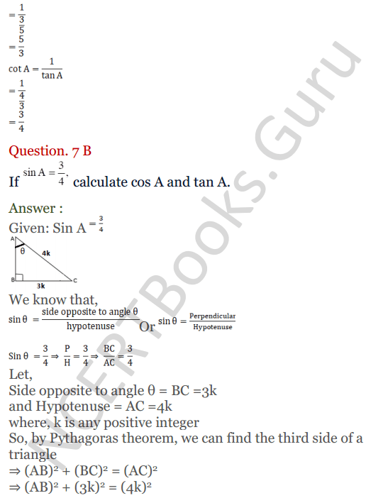 KC Sinha Maths Solutions Class 10 Chapter 4 Trigonometric Ratios and Identities Ex 4.1 - 27