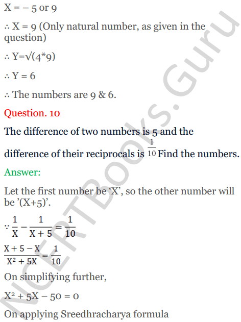 KC Sinha Maths Solutions Class 10 Chapter 7 Quadratic Equations Ex 7.5 - 13
