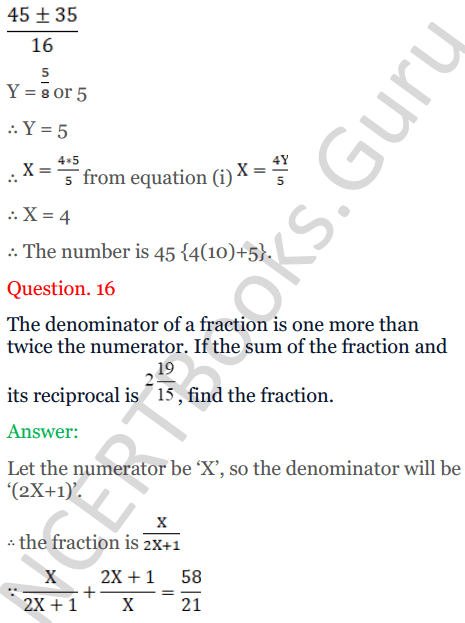 KC Sinha Maths Solutions Class 10 Chapter 7 Quadratic Equations Ex 7.5 - 22