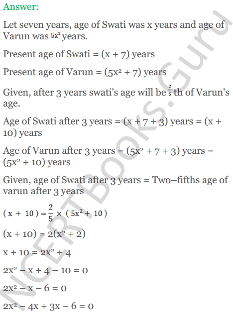 KC Sinha Maths Solutions Class 10 Chapter 7 Quadratic Equations Ex 7.5 - 62