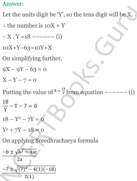 KC Sinha Maths Solutions Class 10 Chapter 7 Quadratic Equations Ex 7.5 - 19