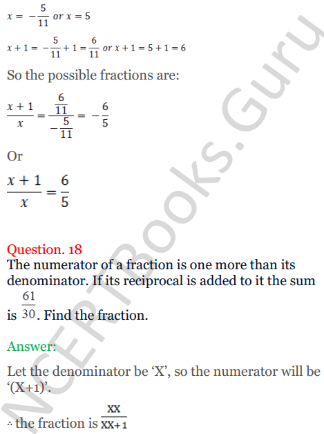 KC Sinha Maths Solutions Class 10 Chapter 7 Quadratic Equations Ex 7.5 - 26