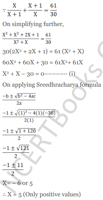 KC Sinha Maths Solutions Class 10 Chapter 7 Quadratic Equations Ex 7.5 - 27