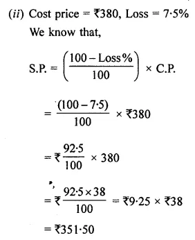 ML Aggarwal Class 8 Solutions for ICSE Maths Chapter 7 Percentage Ex 7.2 Q11.1