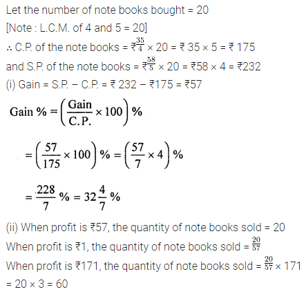 ML Aggarwal Class 8 Solutions for ICSE Maths Chapter 7 Percentage Ex 7.2 Q8