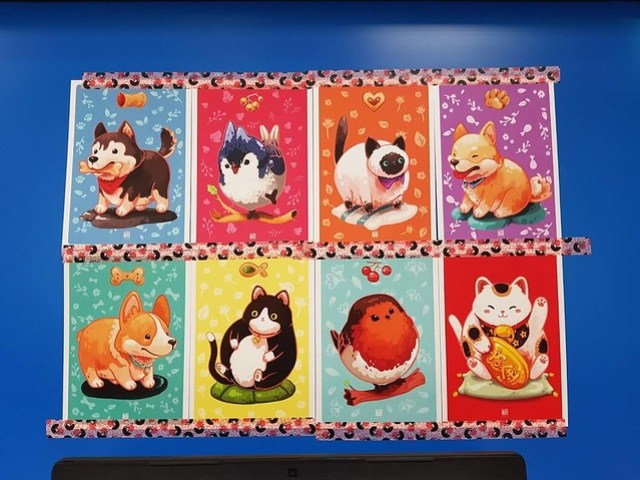 Collection of cute animal postcards