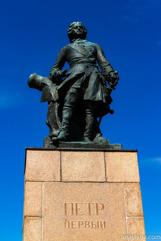 Петровский парк, Выборг, Памятник Петру I