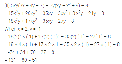 ML Aggarwal Class 8 Solutions for ICSE Maths Chapter 10 Algebraic Expressions and Identities Ex 10.2 Q5.2