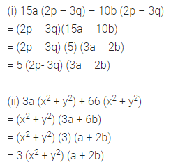 ML Aggarwal Class 8 Solutions for ICSE Maths Chapter 11 Factorisation Ex 11.1 Q6