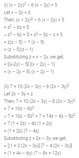 ML Aggarwal Class 8 Solutions for ICSE Maths Chapter 11 Factorisation Ex 11.4 Q11