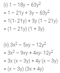 Maths Questions for Class 8 ICSE With Answers Chapter 11 Factorisation Ex 11.4 Q7