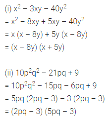 ML Aggarwal Class 8 Solutions for ICSE Maths Chapter 11 Factorisation Ex 11.4 Q8