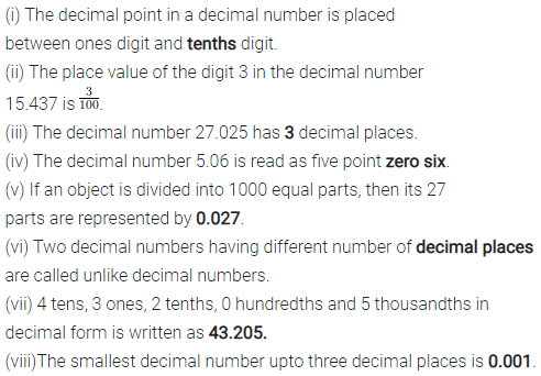 ML Aggarwal Class 6 Solutions Chapter 7 Decimals Objective Type Questions