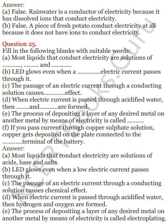 Lakhmir Singh Science Class 8 Solutions Chapter 14 Chemical Effects of Electric Current - 7