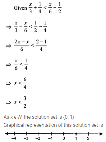 ML Aggarwal Class 8 Solutions for ICSE Maths Chapter 12 Linear Equations and Inequalities in one Variable Ex 12.3 Q10