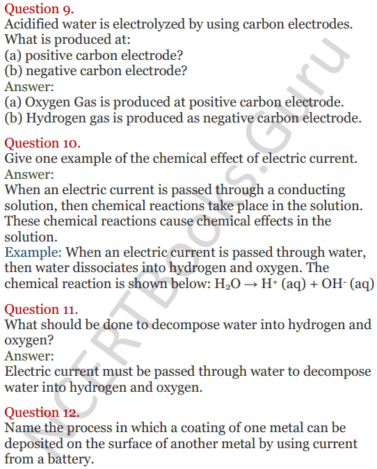 Lakhmir Singh Science Class 8 Solutions Chapter 14 Chemical Effects of Electric Current - 3