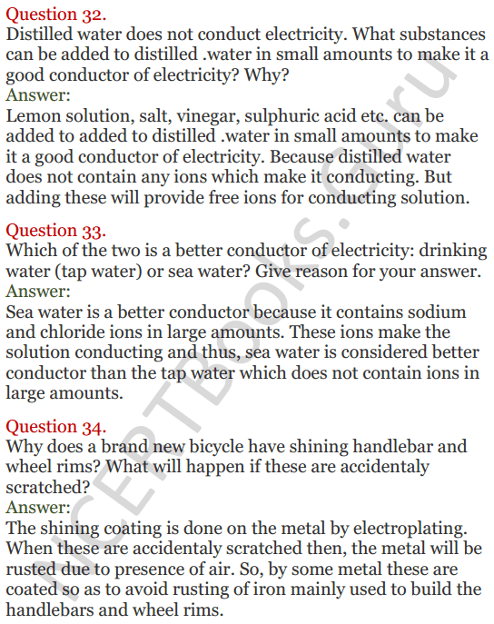 Lakhmir Singh Science Class 8 Solutions Chapter 14 Chemical Effects of Electric Current - 10