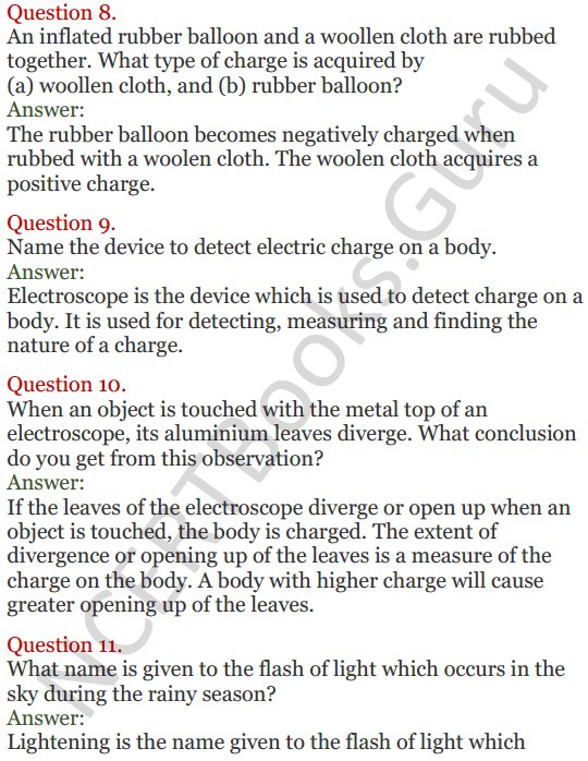 Lakhmir Singh Science Class 8 Solutions Chapter 15 Some Natural Phenomena - 3