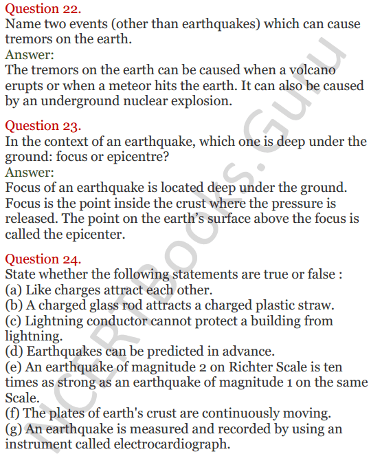 Lakhmir Singh Science Class 8 Solutions Chapter 15 Some Natural Phenomena - 7