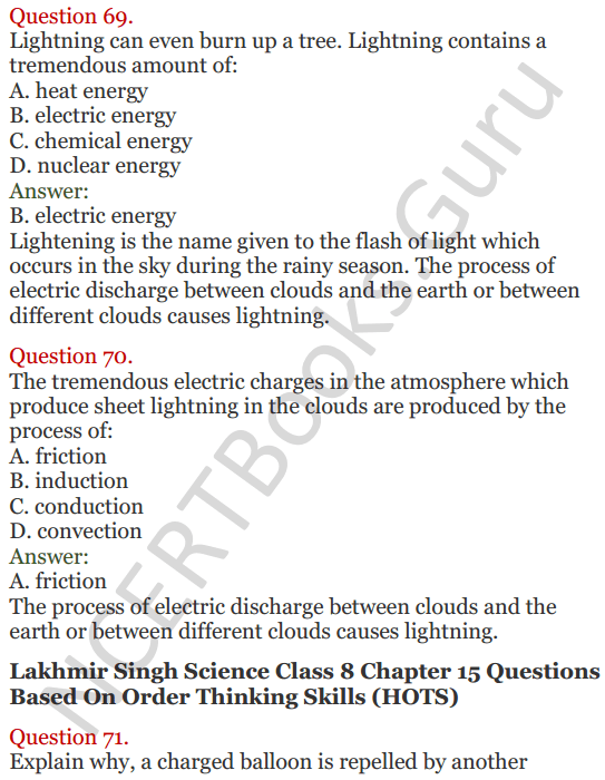Lakhmir Singh Science Class 8 Solutions Chapter 15 Some Natural Phenomena - 34