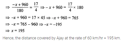ML Aggarwal Class 8 Solutions for ICSE Maths Chapter 12 Linear Equations and Inequalities in one Variable Check Your Progress Q11.1