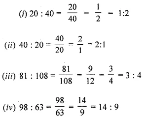 apc Maths Class 6 Solutions PDF Chapter 8 Ratio and Proportion Ex 8.1