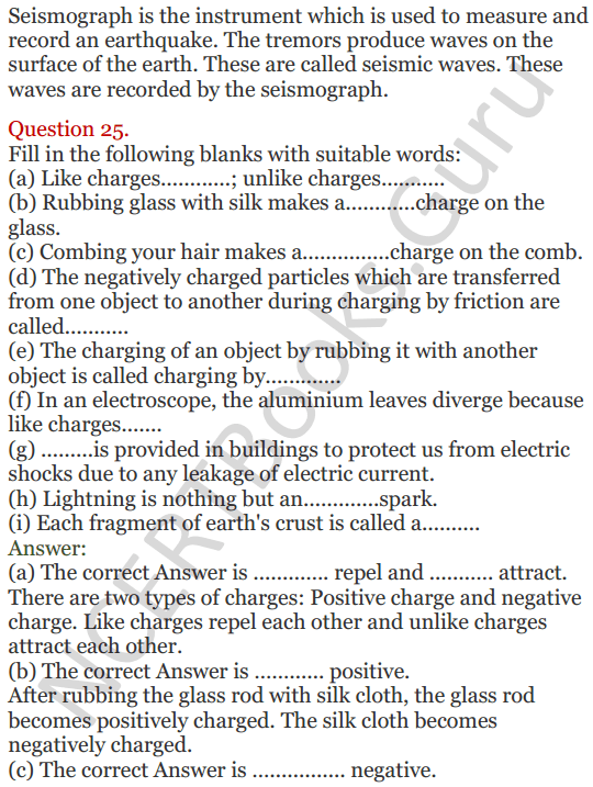 Lakhmir Singh Science Class 8 Solutions Chapter 15 Some Natural Phenomena - 9