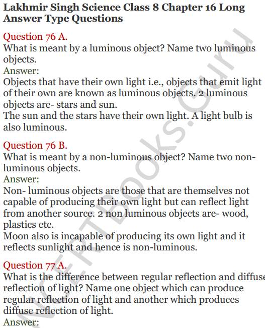 Lakhmir Singh Science Class 8 Solutions Chapter 16 Light - 28