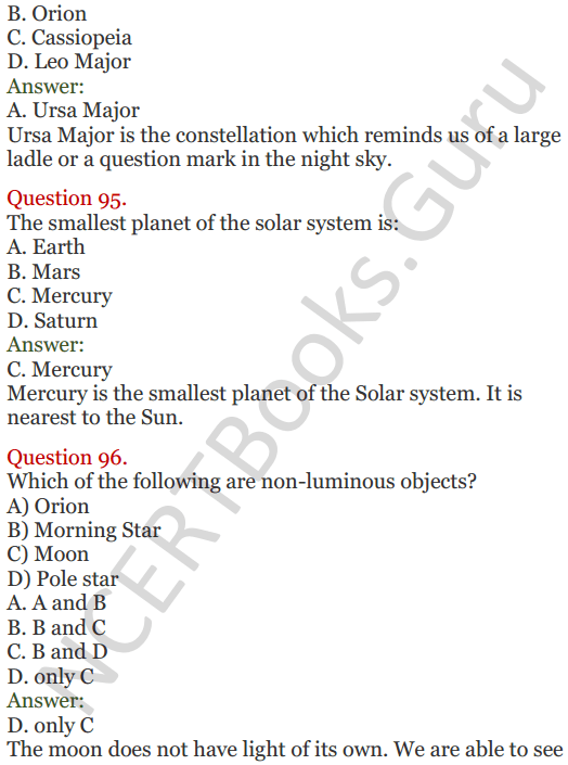 Lakhmir Singh Science Class 8 Solutions Chapter 17 Stars and the Solar System - 40