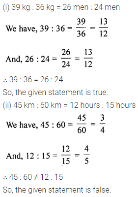 Maths ML Aggarwal Class 6 Chapter 8 Ratio and Proportion Ex 8.2