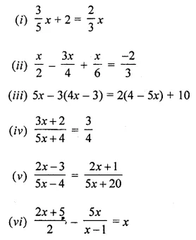 ML Aggarwal Class 8 Solutions for ICSE Maths Chapter 12 Linear Equations and Inequalities in one Variable Check Your Progress Q1