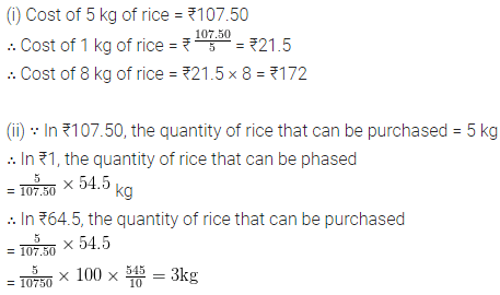ML Aggarwal Class 6th Chapter 8 Ratio and Proportion Ex 8.3