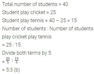 Class 6 ML Aggarwal Solutions Chapter 8 Ratio and Proportion Objective Type Questions