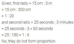 ICSE Class 6 Maths ML Aggarwal Chapter 8 Ratio and Proportion Check Your Progress