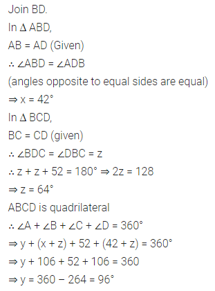 ML Aggarwal Class 8 Solutions for ICSE Maths Chapter 13 Understanding Quadrilaterals Check Your Progress Q6.1