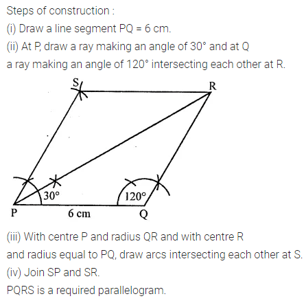 ML Aggarwal Class 8 Solutions Chapter 14 Constructions of Quadrilaterals Objective Type Questions Q2