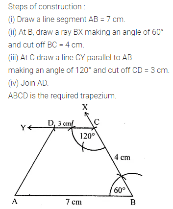 ML Aggarwal Class 8 Solutions for ICSE Maths Chapter 14 Constructions of Quadrilaterals Objective Type Questions Q1