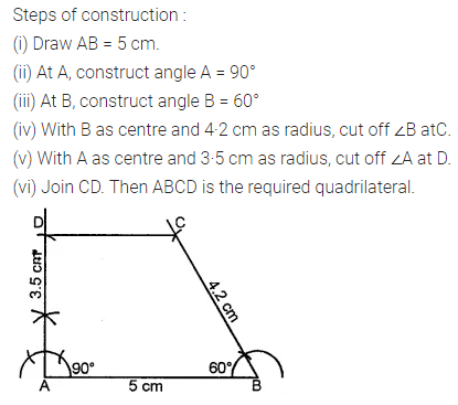 ML Aggarwal Class 8 Solutions for ICSE Maths Chapter 14 Constructions of Quadrilaterals Ex 14.1 Q7