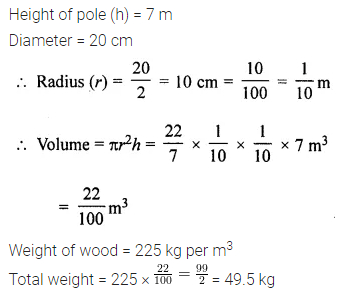 ML Aggarwal Class 8 Solutions for ICSE Maths Chapter 18 Mensuration Ex 18.3 Q14