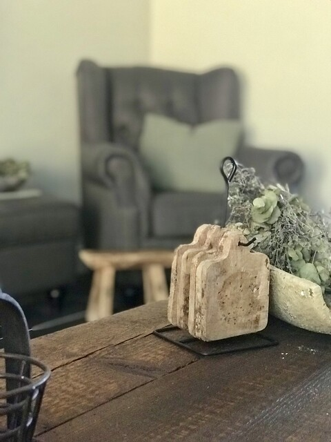 Onderzetters landelijke salontafel