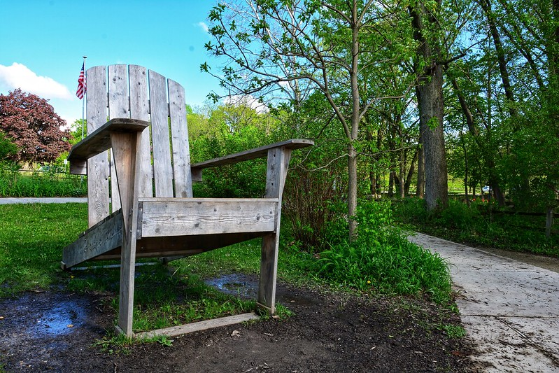 Adirondack chair at Little Red Schoolhouse
