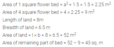 ICSE Class 6 Maths Solutions ML Aggarwal Chapter 14 Mensuration Ex 14.2