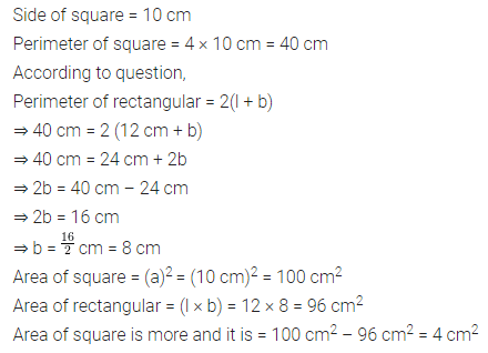 ML Aggarwal Class 6 Solutions for ICSE Maths Chapter 14 Mensuration Check Your Progress Q3