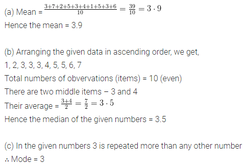 ML Aggarwal Class 6 Solutions for ICSE Maths Chapter 15 Data Handling Ex 15.5 Q3