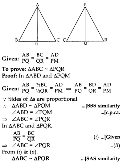 Important Questions for Class 10 Maths Chapter 6 Triangles 68