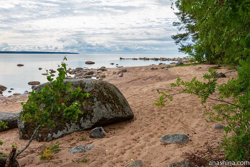 Финский залив, валун